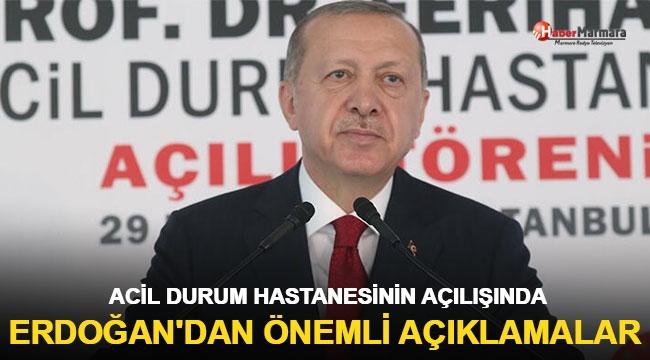 İlk pandemi hastanesi hizmete girdi! Cumhurbaşkanı Erdoğan'dan açıklamalar