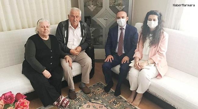 Kaymakam Öner, şehit ailelerini ziyaret etti