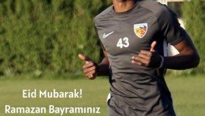 Kayserispor'un yabancılarından bayram kutlaması