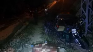 Konya'da triportör takla attı: 2 ölü, 1 yaralı