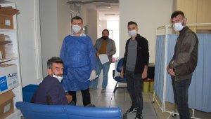 Malkara'da kuaförler korona virüs testinden geçti
