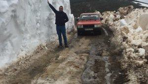 Mayıs ayında 2.5 metre kar