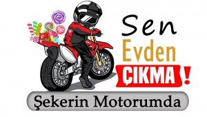 Motosikletli Vefa Sosyal Destek ekibinden evdeki çocuklara bayram hediyesi