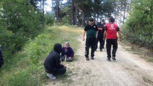 Ormanda kaybolan epilepsi hastası kadın 8 saat sonra bulundu
