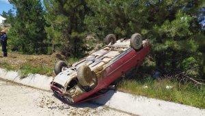 Pazarlar'da trafik kazası: 2 yaralı