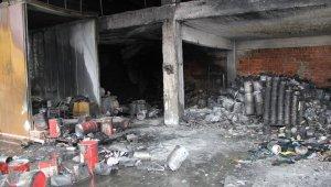 Sanayi sitesindeki yangının boyutu gün ağarınca ortaya çıktı