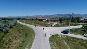 Sandıklı'da jandarma trafik ekipleri drone ile denetim yaptı