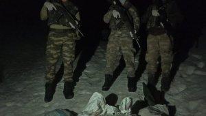 Şemdinli bölgesinde hududu geçmeye çalışan 4 şüpheli yakalandı