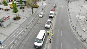Sokağa çıkma kısıtlamasında dışarıda olan kadın sürücüden şaşırtan savunma