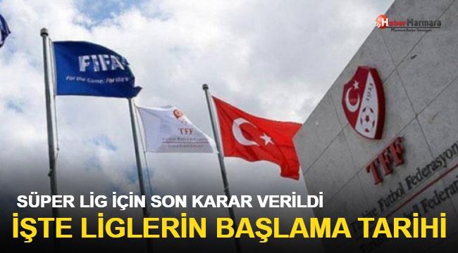 TFF, Süper Lig için son kararını verdi!