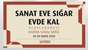 """Trakya Üniversitesi ve Sayred'den, """"Sanat eve sığar"""" uluslararası karma sanal sergisi"""
