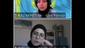 """Türkiye'nin dört bir yanından 90 öğrenci """"Atamun"""" konferansına görüntülü katıldı"""