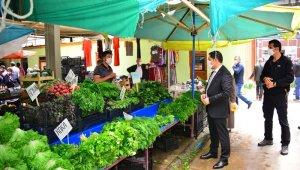Vali Mustafa Masatlı, kapalı halk pazarını denetledi