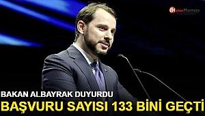 Bakan Albayraktan son dakika açıklaması: 133 bin başvuruyu geçti