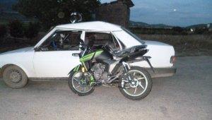 Bilecik'te otomobil ve motosiklet çarpıştı: 3 yaralı