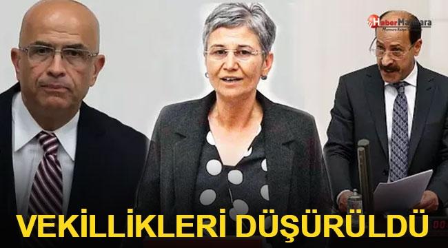 Enis Berberoğlu, Leyla Güven ve Musa Farisoğulları'nın milletvekilliği düşürüldü