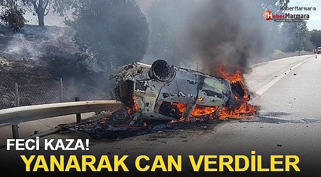 Feci kaza: 2 kişi yanarak öldü