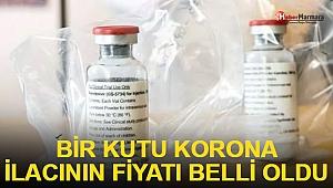 Koronavirüse karşı etkinliği kanıtlanmış tek ilacın bir kutu fiyatı belli oldu