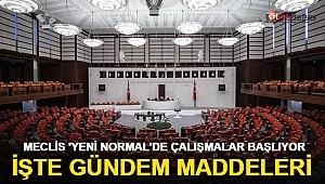 Meclis 'yeni normal'de çalışmalara başlıyor! İşte gündem maddeleri