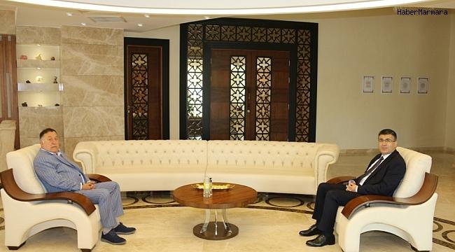 NTSO Başkanı Parmaksız'dan Rektör Aktekin'e ziyaret