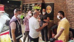 Silvan'da kafe ve lokantalara normalleşme denetimi