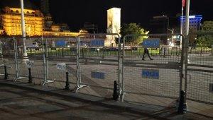 Taksim Meydanı bariyerlerle çevrildi