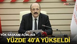 YÖK Başkanı Saraç: Yüzde 40'a yükseltildi