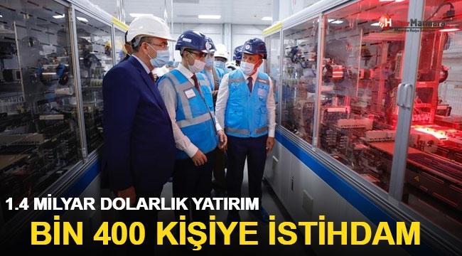 1.4 milyar dolar yatırımla, 1400 kişiye istihdam sağlayacak