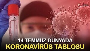 14 Temmuz dünyada koronavirüs tablosu