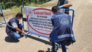 150 kişi yaşayan Süleler köyü karantinaya alındı
