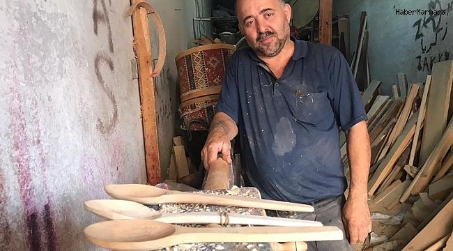 37 yıldır tahta kaşık yapıyor