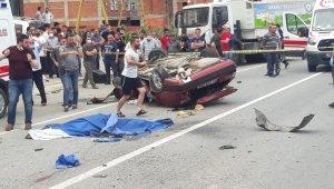 Aracıyla takla atan genç sürücü hayatını kaybetti