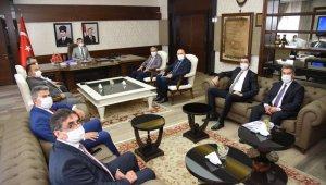 Cumhur İttifakı Belediye Başkanlarından Vali Aksoy'a ziyaret