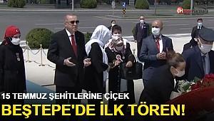 Cumhurbaşkanı Erdoğan'dan 15 Temmuz şehitlerine çiçek
