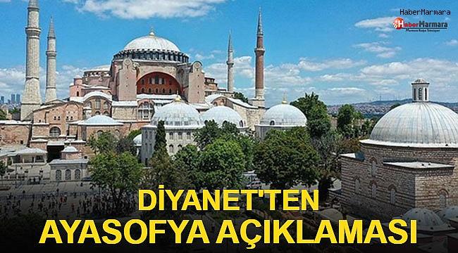 Diyanet'ten Ayasofya açıklaması