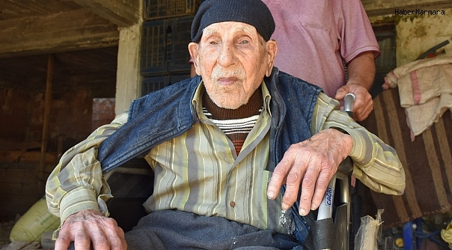 Erdoğan hayranı 103 yaşındaki Mestan Dede, sağlığını alkol ve sigaradan uzak durmaya bağlı olduğunu söyledi
