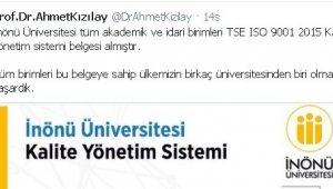 İnönü Üniversitesi kalitede Türkiye'de birkaç üniversiteden biri oldu