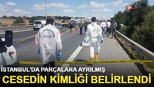 İstanbul'da yol kenarında bulunan parçalanmış cesedin kimliği belirlendi