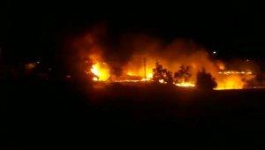 Keban'da korkutan yangın okula sıçramadan söndürüldü