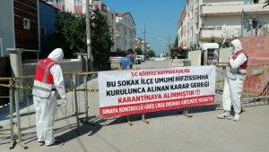 Kocaeli'de bir sokak daha karantinaya alındı