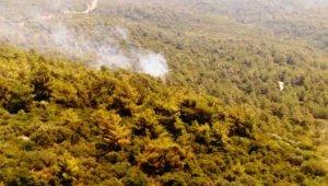 Marmaris'teki orman yangını büyümeden söndürüldü