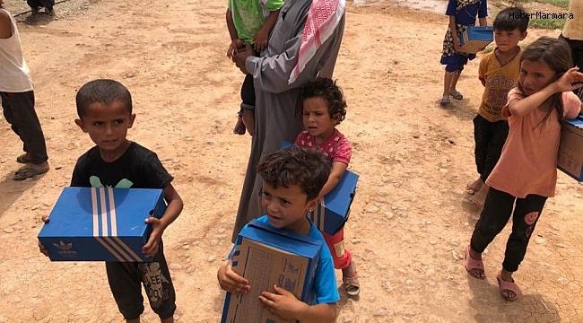 Mehmetçikten Suriyeli çocuklara bayram hediyesi