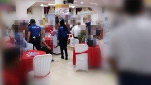 Nizip polisinden düğün salonlarında korona virüs denetimi
