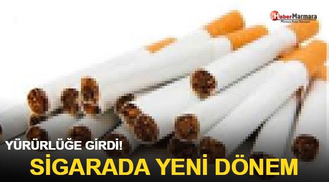Resmen yürürlüğe girdi! Sigarada yeni dönem