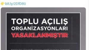 Sivas'ta toplu açılışlar yasaklandı