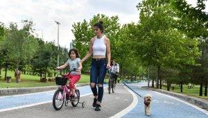 Başkent'te bisiklet tutkunlarına büyükşehir parkları ev sahipliği yapıyor