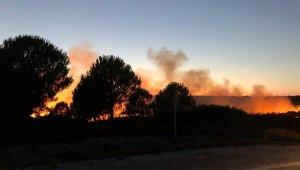 Bozcaada'da korkutan yangın