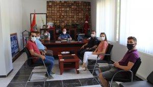 Çanlı Gazeteciler Emniyet Müdürü Akpınar'ı makamında ziyaret etti