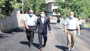Erciş Belediyesinden asfalt kaplama çalışması
