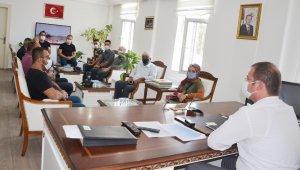 Gazetecilerden Kaymakam Erdemir'e ziyaret